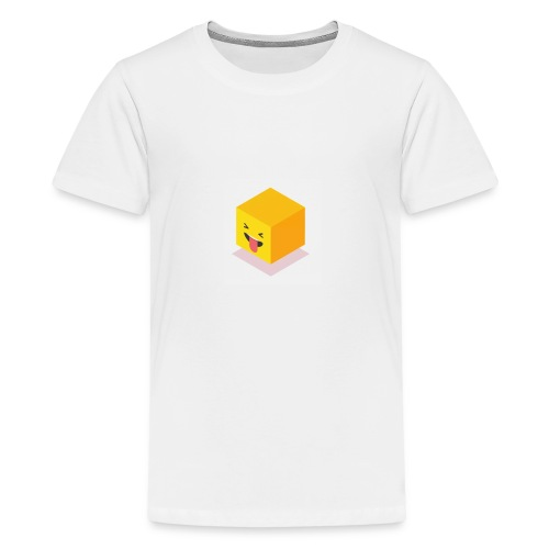 Silly Cube Face - Kids' Premium T-Shirt