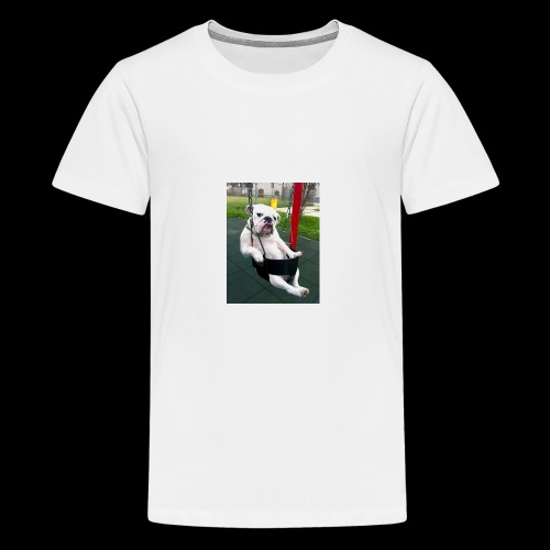 Swinging bulldog - Kids' Premium T-Shirt