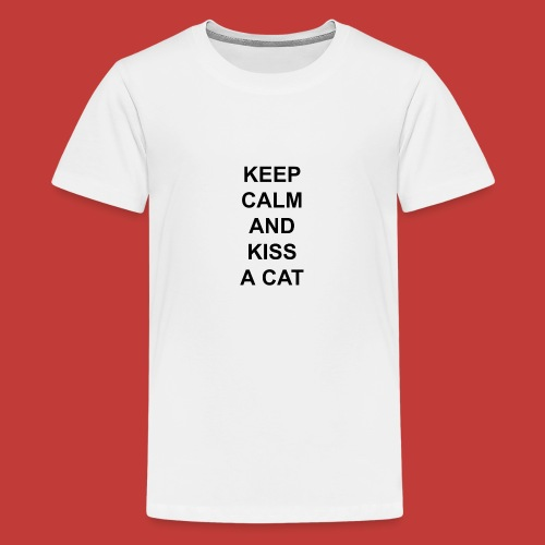 Keep calm and kiss a cat - Kids' Premium T-Shirt