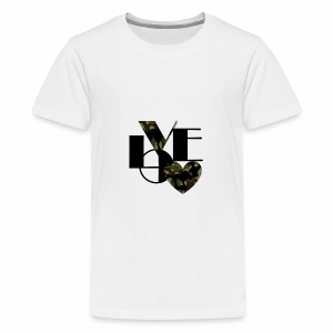 Love Black and Camouflage - Kids' Premium T-Shirt
