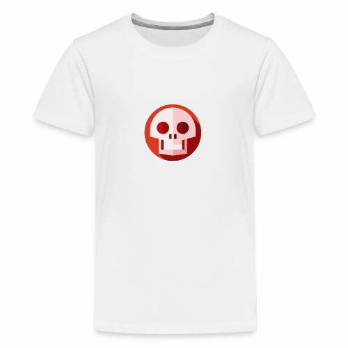 Red & White SKULL - Kids' Premium T-Shirt