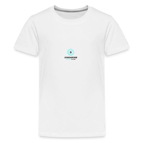 Lit DomDaBomb Logo For WHITE or Light COLORS Only - Kids' Premium T-Shirt