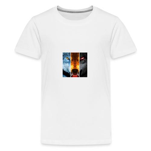 The triple wolf - Kids' Premium T-Shirt