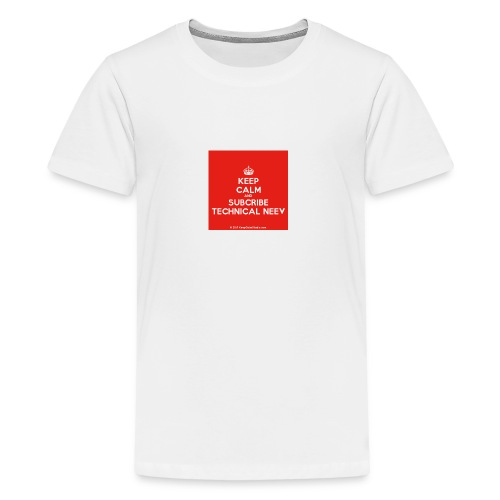 KeepCalm red and white edition - Kids' Premium T-Shirt