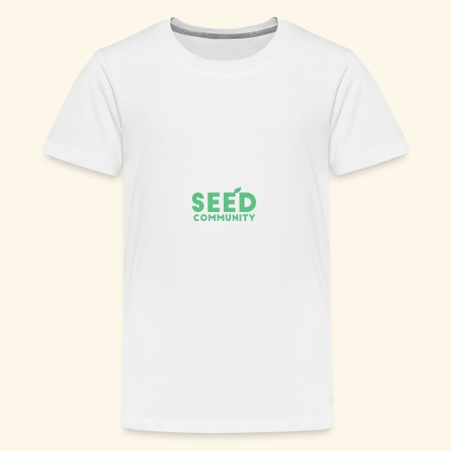 SEED Community Logotype - Green - Kids' Premium T-Shirt