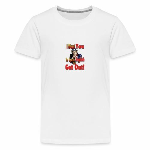learn to speak english main full - Kids' Premium T-Shirt