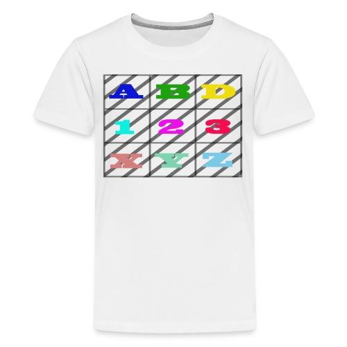 kids abc teaching - Kids' Premium T-Shirt