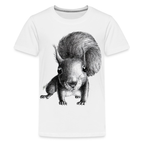 Cute Curious Squirrel - Kids' Premium T-Shirt