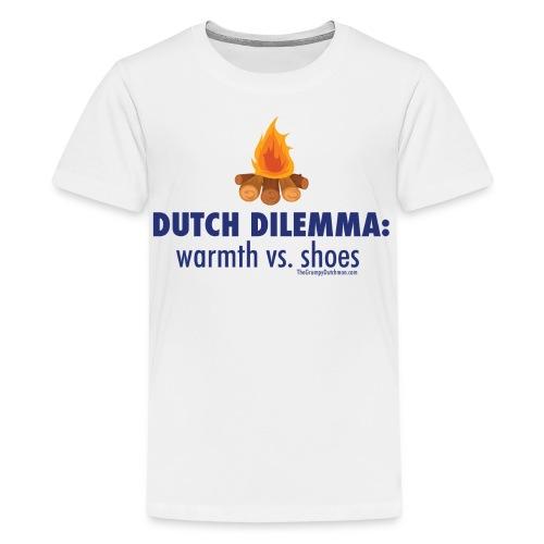 05 Dutch Dilemma blue lettering - Kids' Premium T-Shirt
