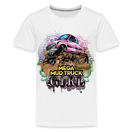 Mega Mud Truck Girl - Kids' Premium T-Shirt