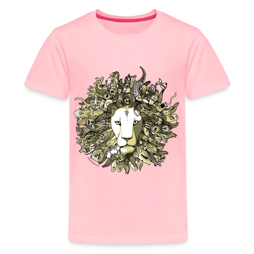 Yellow Lion - Kids' Premium T-Shirt