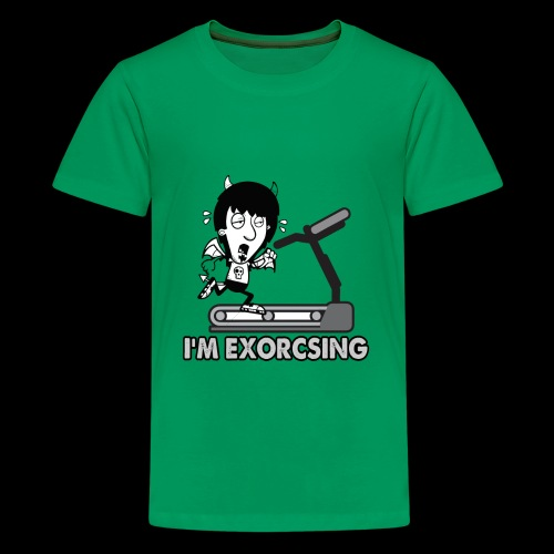 I'm Exorcising My Demon | Funny Halloween Workout - Kids' Premium T-Shirt