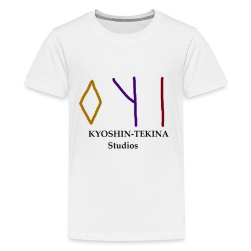 Kyoshin-Tekina Studios logo (black test) - Kids' Premium T-Shirt
