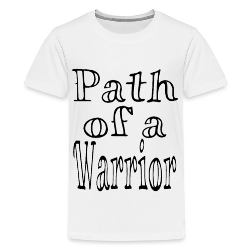 Path of a Warrior (White) - Kids' Premium T-Shirt