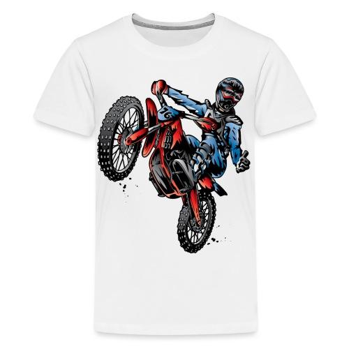 Motocross Dirt Bike Stunt Rider - Kids' Premium T-Shirt