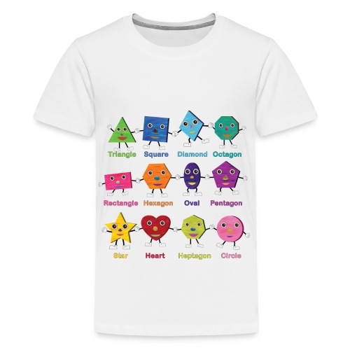 Shapes having fun! - Kids' Premium T-Shirt