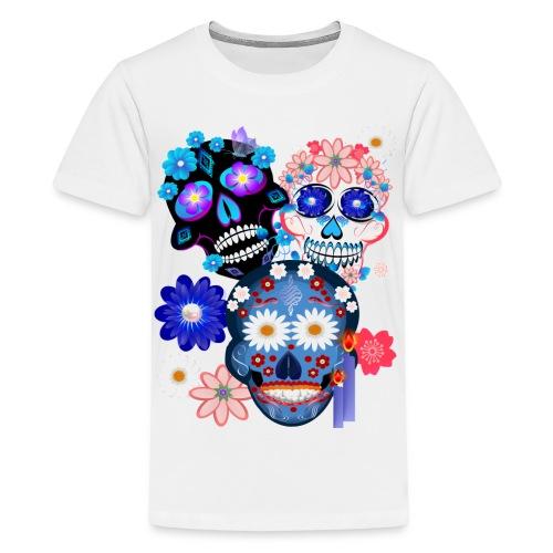 3 Skulls-Day Of The Dead - Kids' Premium T-Shirt