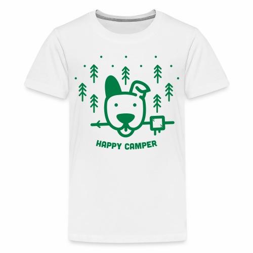 Happy Camping Dog - Kids' Premium T-Shirt