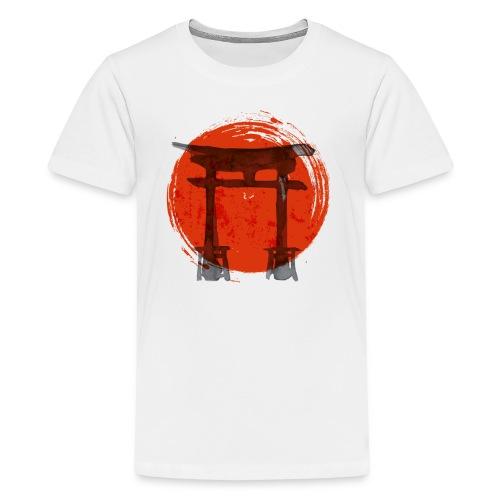 Premium Japanese Artistic Temple Watercolor Shirt - Kids' Premium T-Shirt
