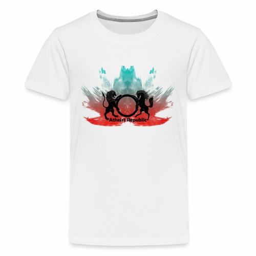 Atheist Republic Logo - Red & Blue Paint Flare - Kids' Premium T-Shirt