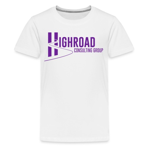 Highroad Logo Overlay Purple - Kids' Premium T-Shirt