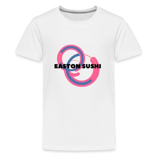 Easton Sushi Blue On Pink - Kids' Premium T-Shirt