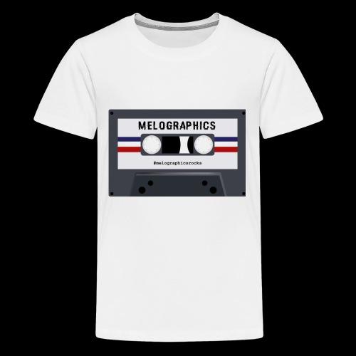 Retro Cassette #melographicsrocks - Kids' Premium T-Shirt
