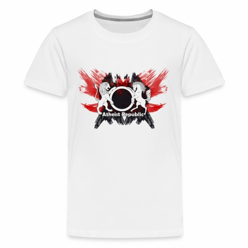 Atheist Republic Logo - Red & Black Painted Crest - Kids' Premium T-Shirt
