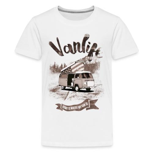 Vanlife - Freedom and independance 🇺🇸 - Kids' Premium T-Shirt