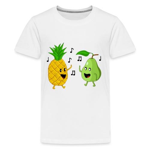 Dancing Pineapple and Pear - Kids' Premium T-Shirt