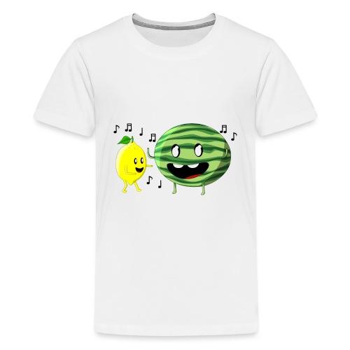 Dancing Lemon and Watermelon - Kids' Premium T-Shirt