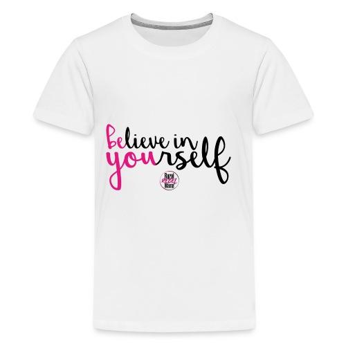 BE YOU shirt design w logo - Kids' Premium T-Shirt
