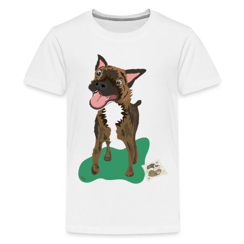 Edgrrr Brindle Terrier - Kids' Premium T-Shirt