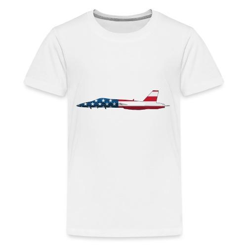 American Flag Military Jet - Kids' Premium T-Shirt