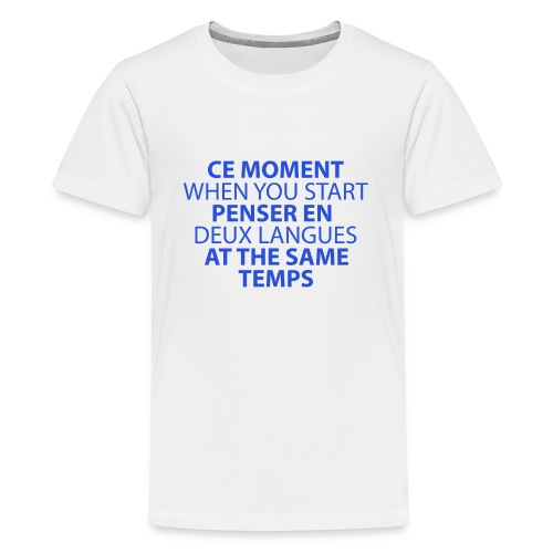 Language geek phrase - Kids' Premium T-Shirt