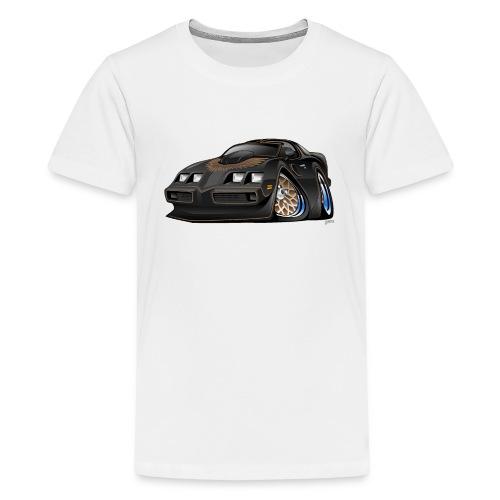 Classic American Black Muscle Car Cartoon - Kids' Premium T-Shirt