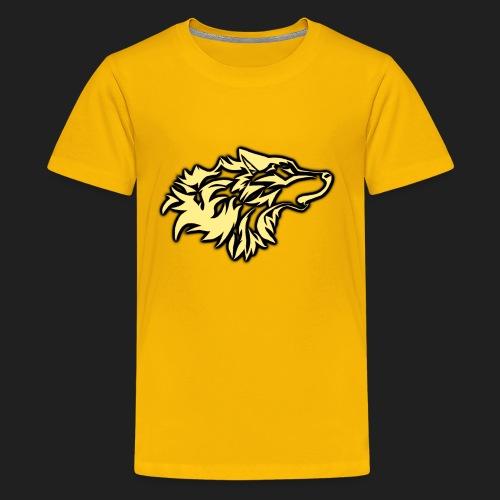 wolfepacklogobeige png - Kids' Premium T-Shirt