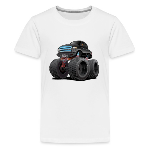 Monster Pickup Truck Cartoon - Kids' Premium T-Shirt