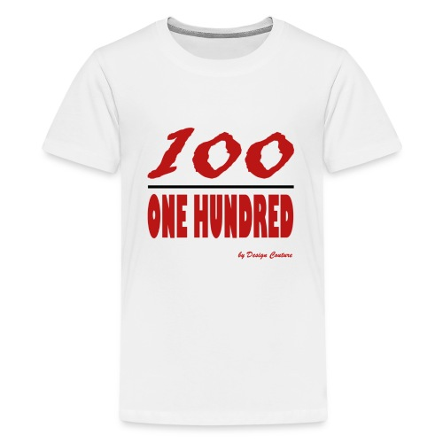 ONE HUNDRED RED - Kids' Premium T-Shirt