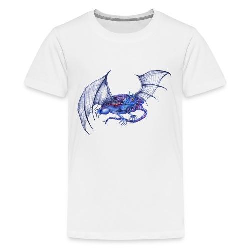 Long tail blue dragon - Kids' Premium T-Shirt