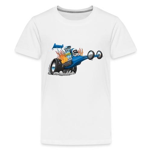 Top Fuel Dragster Cartoon - Kids' Premium T-Shirt