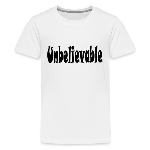 T-SHIRT (WHITE) - Kids' Premium T-Shirt