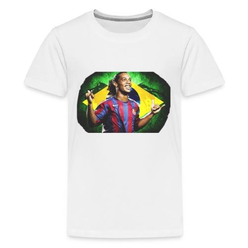 Ronaldinho Brazil/Barca print - Kids' Premium T-Shirt