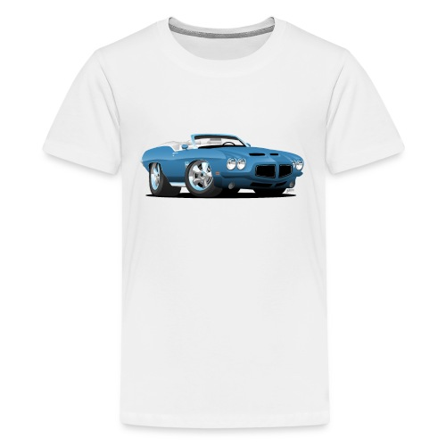 American Classic Seventies Convertible Car Cartoon - Kids' Premium T-Shirt