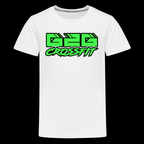 Electrifying Green Half G2G Logo - Kids' Premium T-Shirt