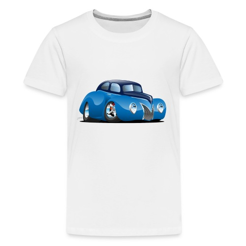Classic 39 Street Rod Coupe Custom Car Cartoon - Kids' Premium T-Shirt