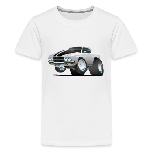 Classic 70's American Muscle Car Cartoon - Kids' Premium T-Shirt