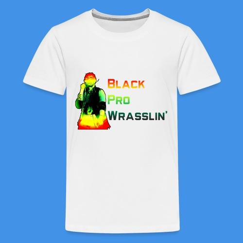 Black Pro Wrasslin - Kids' Premium T-Shirt