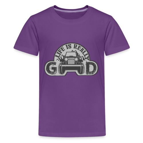 Life Is Really Good Jeep - Kids' Premium T-Shirt