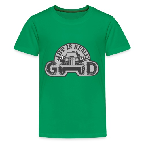 Life Is Really Good Jeep - Kids' Premium T-Shirt